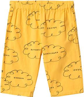 Bobo Choses Banana Yellow Clouds Straight Trousers