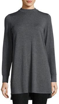 Eileen Fisher Lightweight Mock-Neck Long Tunic