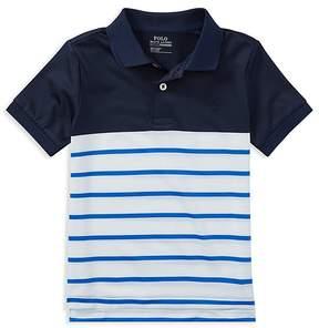 Polo Ralph Lauren Boys' Moisture-Wicking Striped Polo - Little Kid