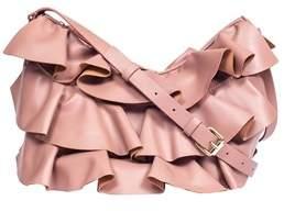 Borbonese Women's 954835400q94 Brown Leather Shoulder Bag.