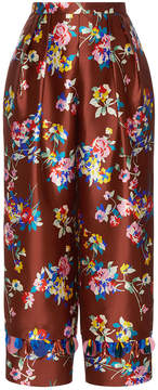 DELPOZO Straight Printed Pants