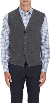 Luciano Barbera Men's English Rib-Knit Wool Vest