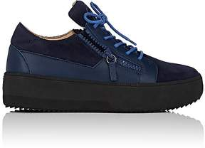 Giuseppe Zanotti Men's Nubuck & Leather Double-Zip Sneakers
