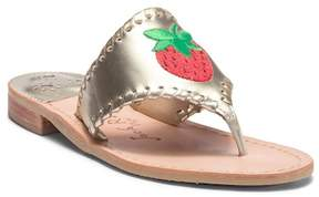 Jack Rogers Strawberry Embroidered Thong Sandal