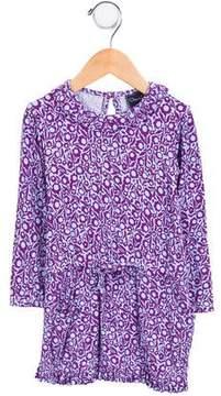 Oscar de la Renta Girls' Floral Print Knit Dress