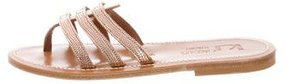 K Jacques St Tropez Metallic Slide Sandals w/ Tags