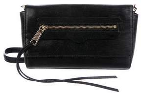 Rebecca Minkoff Embossed Leather Crossbody Bag - BLACK - STYLE