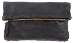 Clare Vivier Printed Fold-Over Clutch
