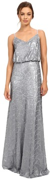 Donna Morgan Blouson Sequin Gown Women's Dress