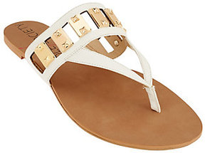 Sole Society As Is Cut-out Thong Sandals with Hardware - Jude