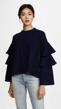 AG Jeans Pearl Ruffle Sweatshirt