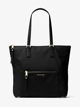 Michael Kors Ariana Large Nylon And Leather Tote - BLACK - STYLE