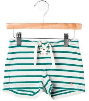 Petit Bateau Girls' Striped Lace-Up Shorts