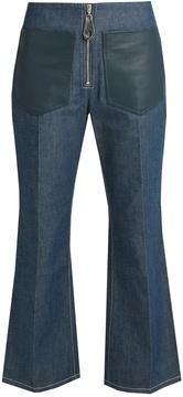 Edun High-rise flared cropped jeans