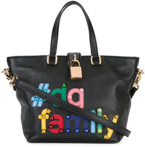 Dolce & Gabbana tDG family patch Dolce tote - BLACK - STYLE
