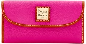 Dooney & Bourke Pebble Grain Continental Clutch Wallet - MAGENTA - STYLE