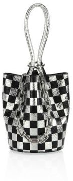 Alexander Wang Roxy Mini Checkerboard Bucket Bag