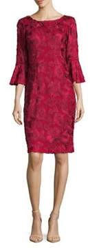 Alex Evenings Three-Quarter Bell Sleeve Dress