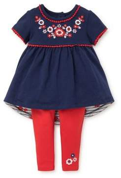 Little Me Baby Girl's Two-Piece Top and Leggings Set