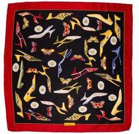 Salvatore Ferragamo Printed Woven Scarf