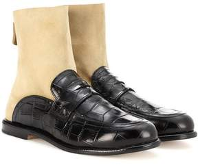 Loewe Sock leather boot loafers