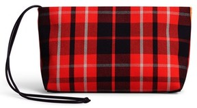 Burberry Tartan Zip Clutch - Red - RED - STYLE