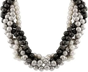 Bella Pearl Braided Multi Row Necklace