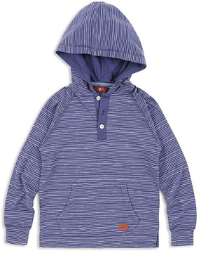 7 For All Mankind Boys' Hooded Henley - Big Kid