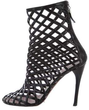 Alaia Cutout Ankle Boots