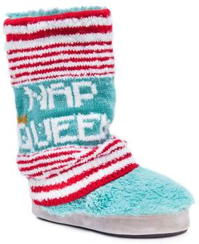 Muk Luks Women's' Sofia Nap Queen Striped Boot Slippers