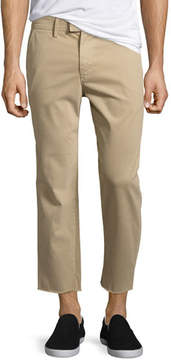 Joe's Jeans Soder Slim Stretch Chino Pants with Cut Hem, Beige