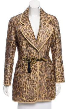 Christian Dior Leopard Brocade Jacket