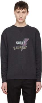 Saint Laurent Grey Eclair Sweatshirt
