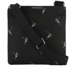 Alexander McQueen Men's Black Fabric Briefcase.