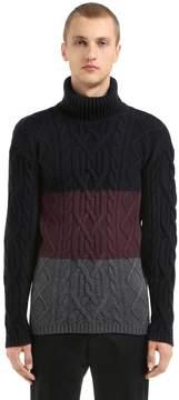 Antonio Marras Mixed Wool Turtle Neck Knit Sweater