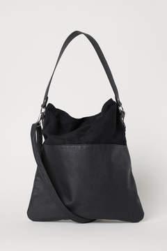 H&M Shopper with Shoulder Strap - Black