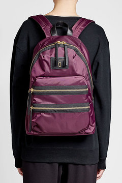 Marc Jacobs Fabric Backpack - PURPLE - STYLE