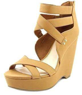 Bar III Womens Samara Open Toe Ankle Wrap Wedge Pumps.