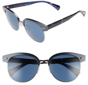 Oliver Peoples Women's Shaelie 55Mm Mirrored Semi-Rim Sunglasses - Navy