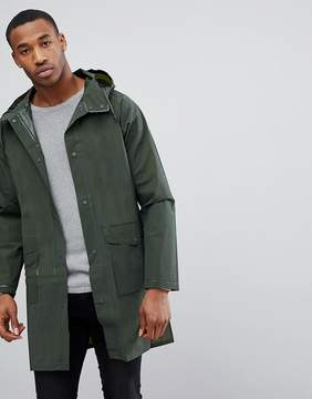 Pull&Bear Waterproof Rain Jacket In Khaki