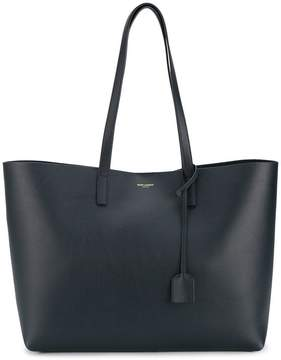 Saint Laurent leather shopper tote - BLUE - STYLE