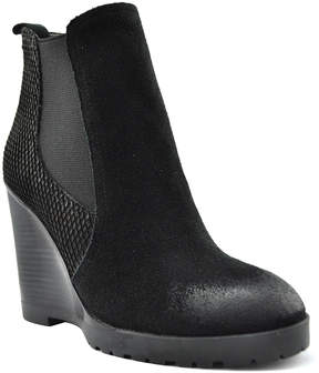 Very Volatile Black Spectacular Leather Ankle Boot