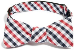 1901 Men's 'Bloomquist' Check Silk Blend Bow Tie