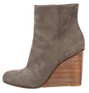 Maison Margiela Suede Wedge Boots
