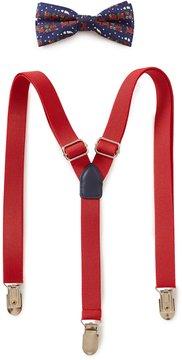 Class Club Christmas Train Bow Tie & Suspenders Set