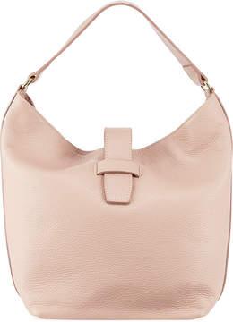 Neiman Marcus Convertible Pebbled Leather Bucket Bag