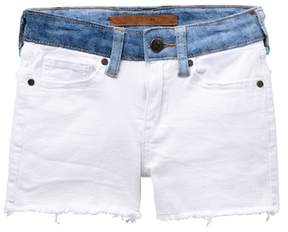 Joe's Jeans Mid Rise Stretch Denim Frayed Shorts (Big Girls)