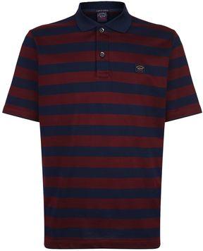 Paul & Shark Striped Cotton Polo Shirt