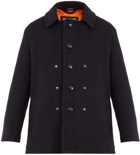 Lanvin Single-breasted wool and mohair-blend pea coat