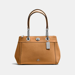 COACH Coach Turnlock Edie Carryall - SILVER/LIGHT SADDLE - STYLE